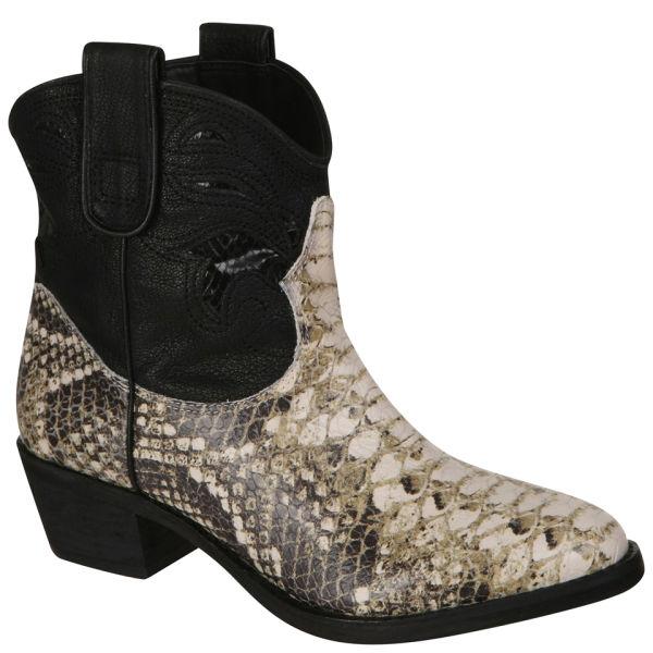 Sam Edelman Women's Stevie Cowboy Boots - Snake Skin