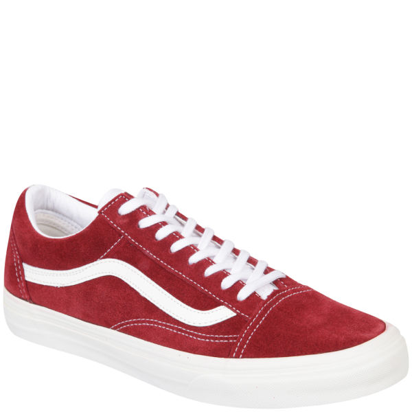 vans old skool vintage red trainers