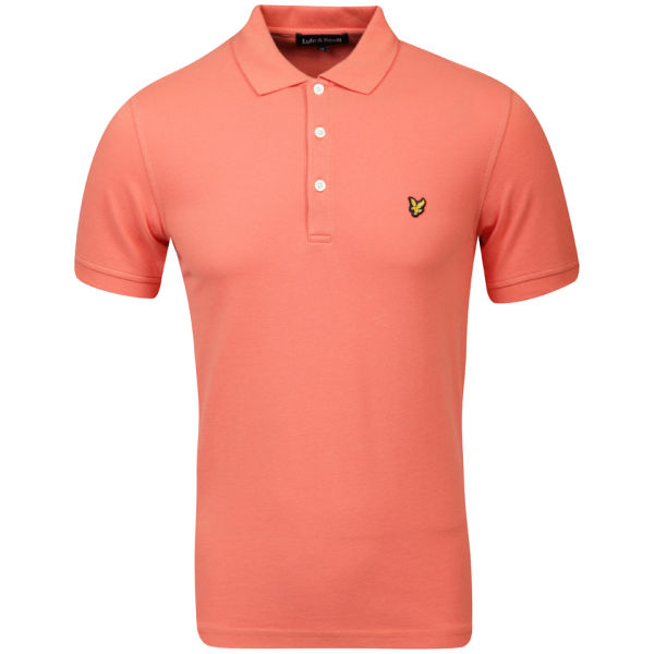 lyle scott men 39 s polo shirt orange clothing
