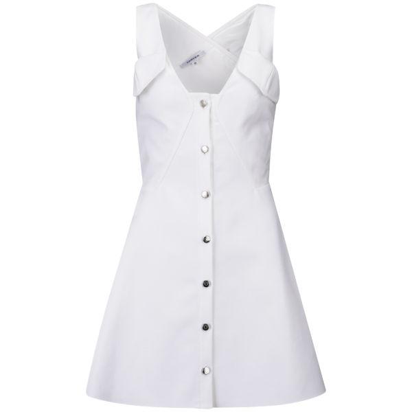 Carven Women's Cotton Tricotine Dress - White