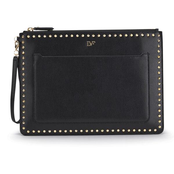 Diane von Furstenberg Women's Zip and Go Wristlet Pouch - Black