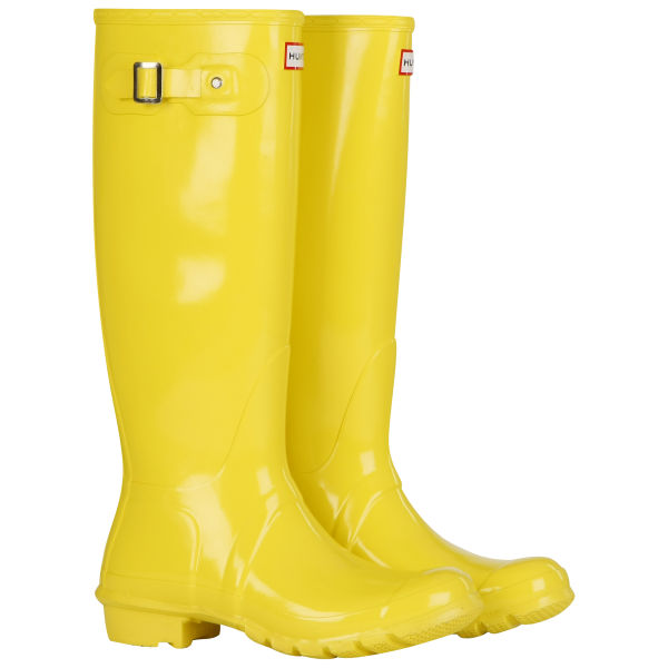 Hunter Women's Original Tall Gloss Wellies - Lemon