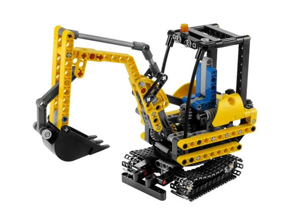 lego technic compact excavator 8047 toys. Black Bedroom Furniture Sets. Home Design Ideas