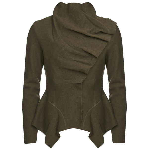 GROA Women's Boiled Wool Winter Jacket - Green