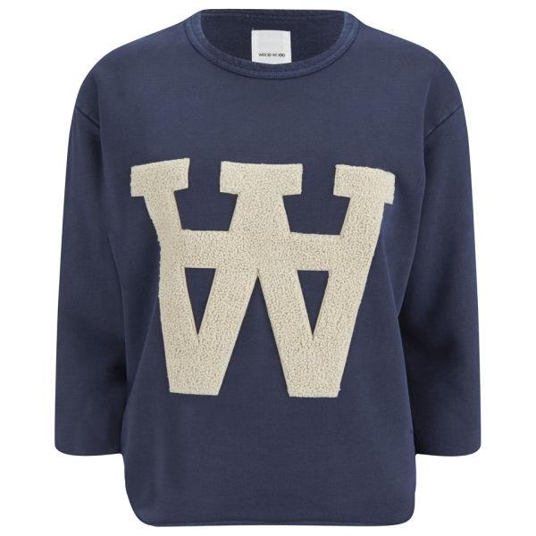 Wood Wood Women's Hope Sweatshirt - Mood Indigo
