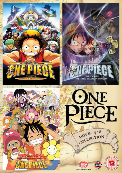 One Piece Movie Collection 2 Contains Films 4 6 Dvd