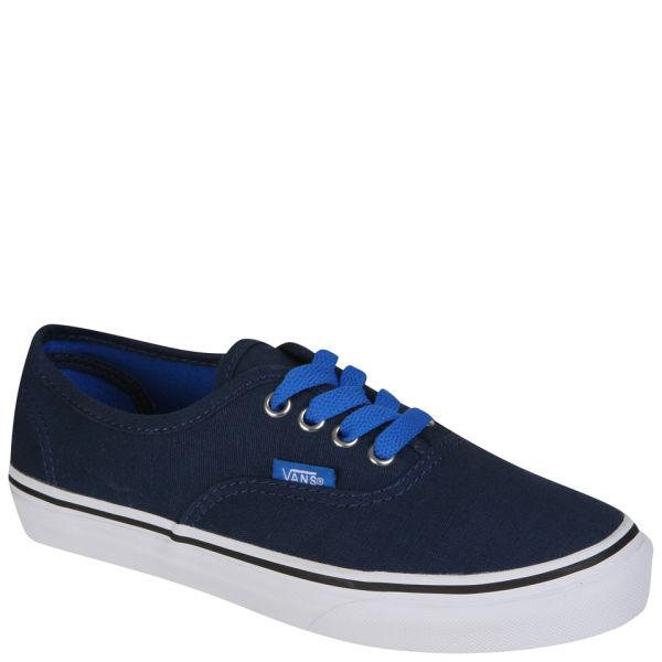 ffd62c6e9bc752 Vans Kids  Authentic Canvas Trainer - Pop Lace - Dress Blue Clothing ...