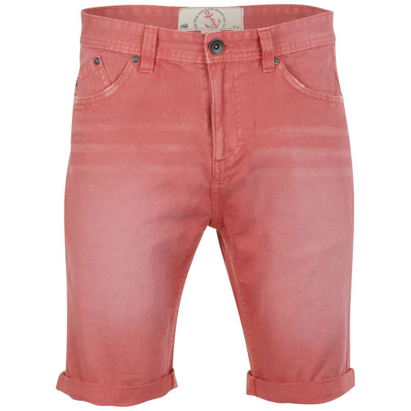 Brave Soul Men's Venice Denim Shorts - Coral Mens Clothing | Zavvi.com