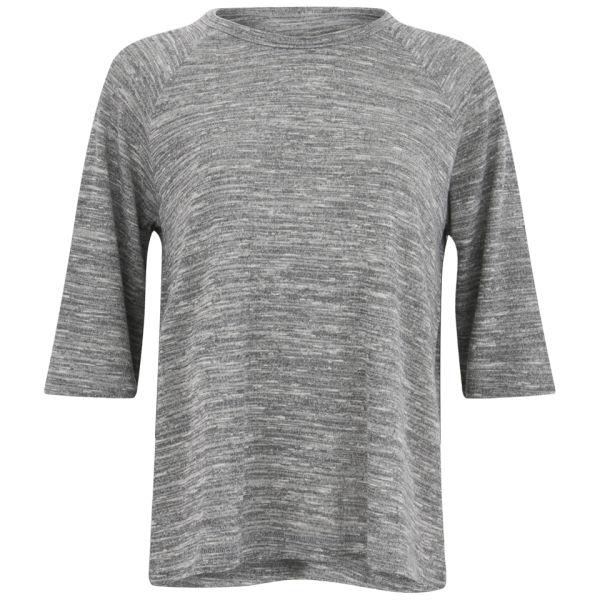 rag   bone Women s Kenna Raglan Melange T-Shirt - Light Grey - Free ... a2af2fa7d