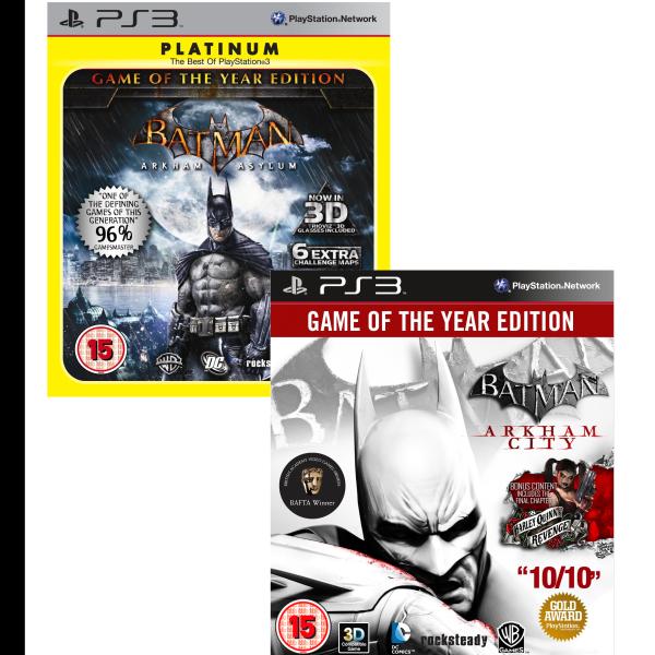 Batman Arkham GOTY Bundle: Includes Arkham City and Arkham Asylum