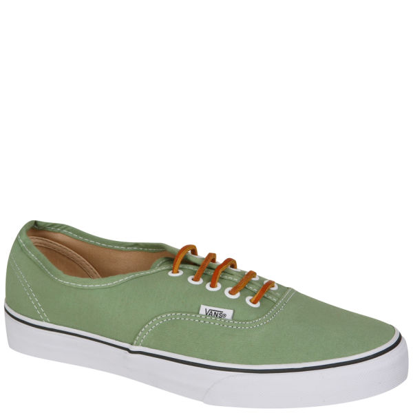 eb16f5b69e Vans Authentic Brushed Twill Trainer - Shale Green True White  Image 1