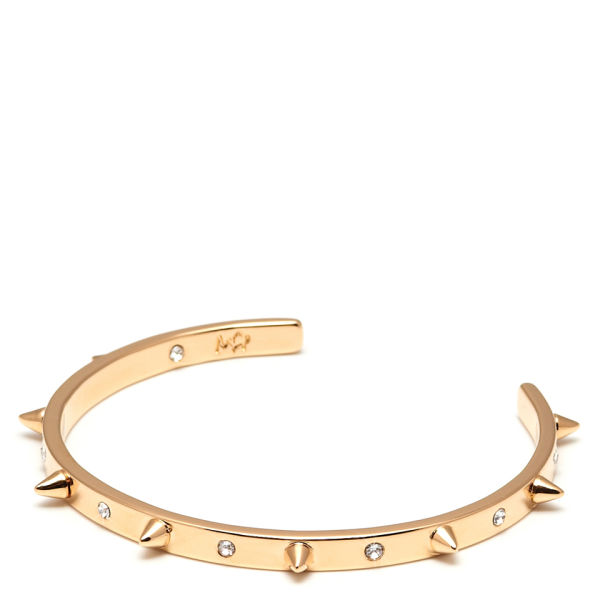 Maria Francesca Pepe Spike/Swarovski Crystal Cuff - Gold