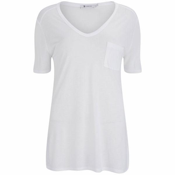 T by Alexander Wang Women's Pocket T-Shirt - White