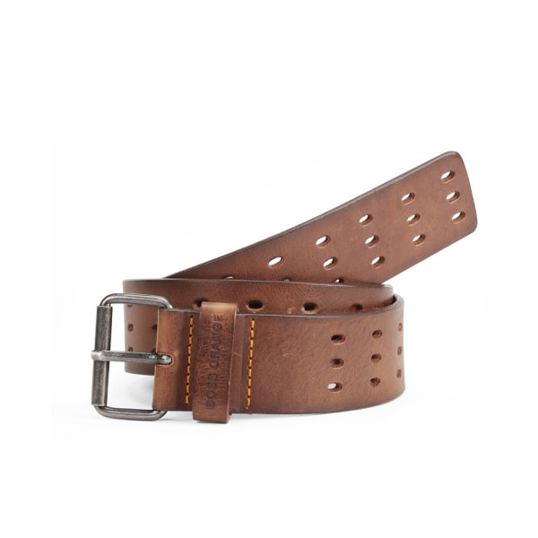 BOSS Orange Jeremios Leather Belt - Medium Brown