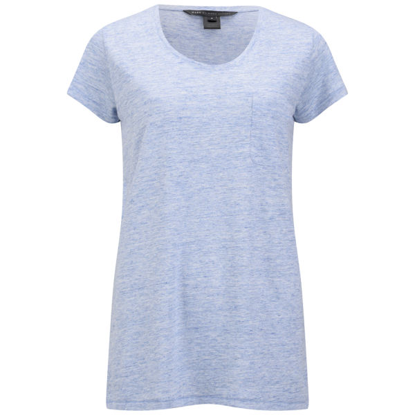 Marc by Marc Jacobs Women's Carmen Rounded V T-Shirt - Pinwheel Blue