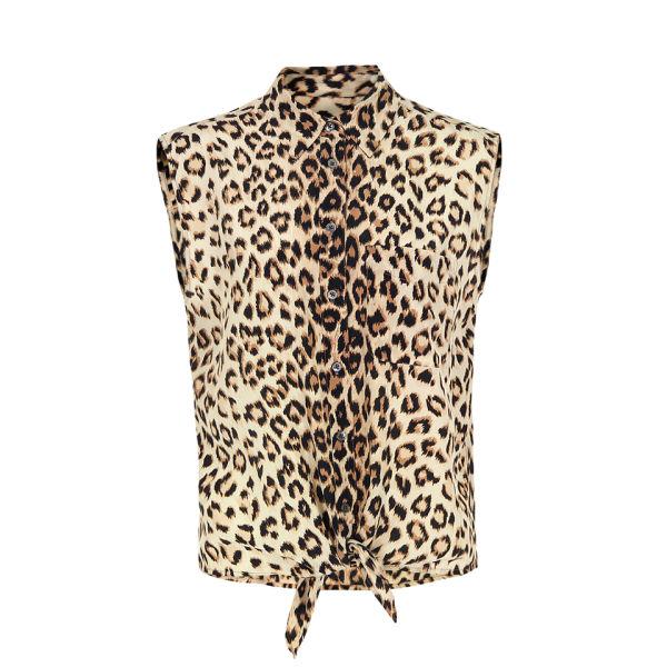 Equipment Women's Q426E277 Diem Tie Front Shirt - Leopard