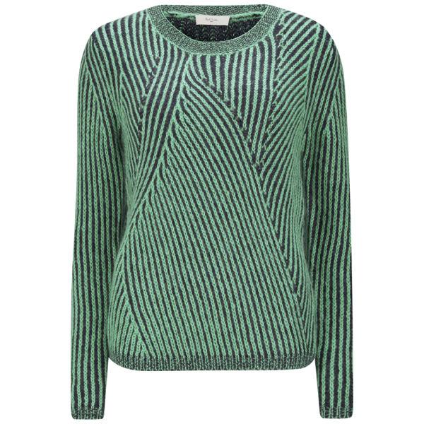 Paul by Paul Smith Women's Twisted Stripe Knit Jumper - Green