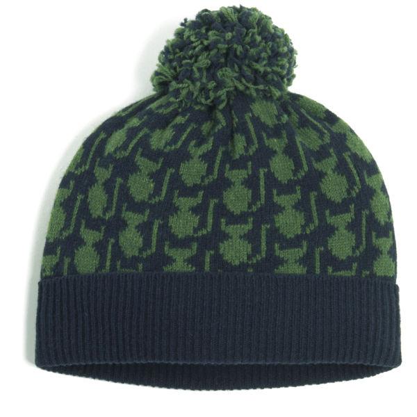 Orla Kiely Women's Kitten Fairisle Wool Hat - Green/Navy