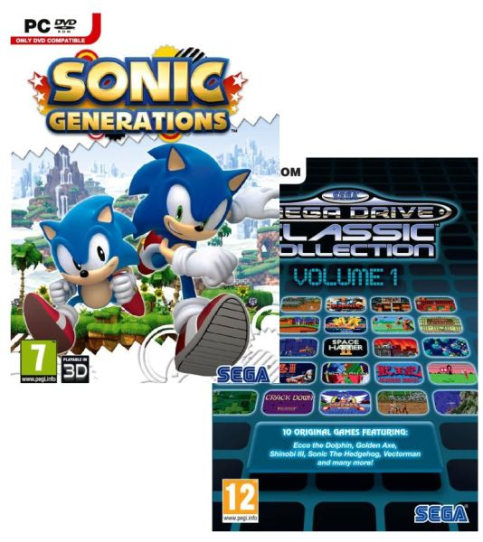 Sonic Generations avec Sega Mega Drive Classic Collection: Volume 1