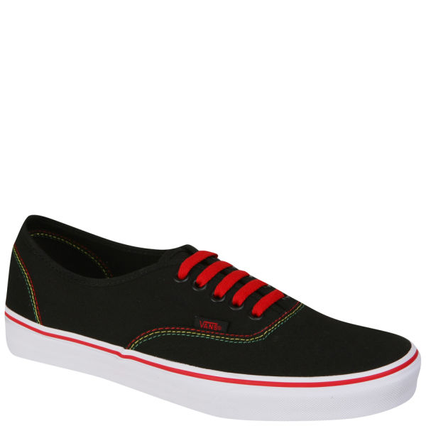 Vans Authentic Canvas Rasta Trainers - Black/Red