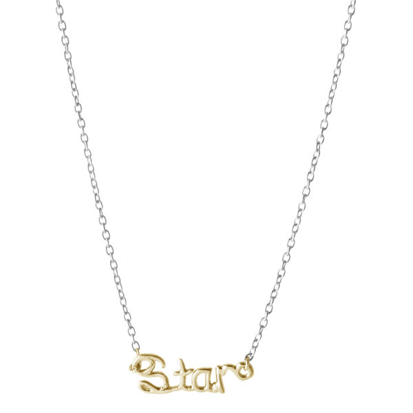 Enelle London Necklace 18ct Gold Plated on Silver Chain STAR