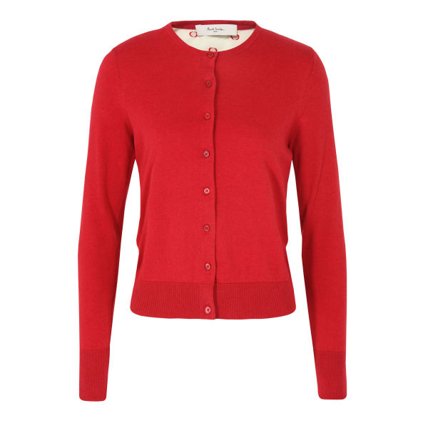 Paul by Paul Smith Women's G554 Polka Dot Cardigan - Red