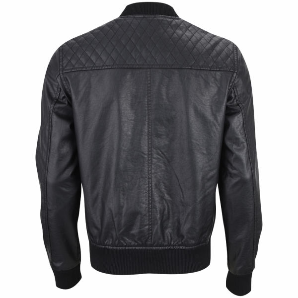 Ecko Menu0026#39;s Hip Hop Leather Look Jacket - Black Clothing | Zavvi