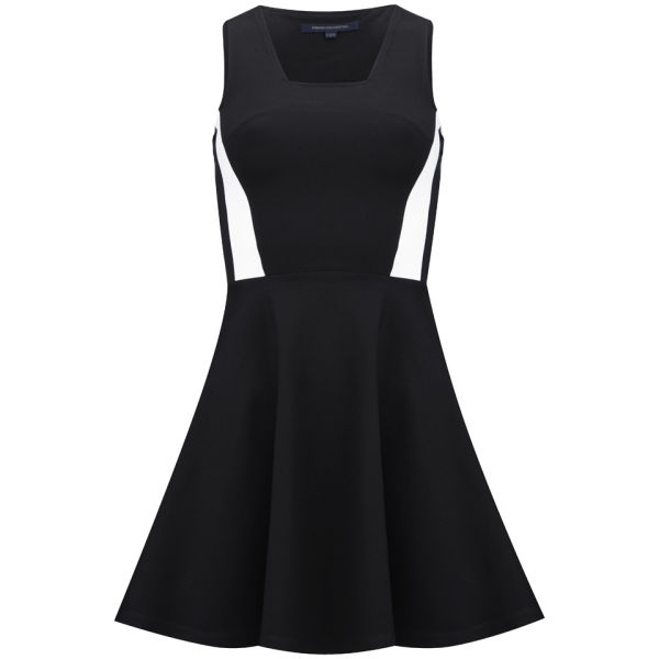French Connection Women's Lucy Flare Dress - Black/White