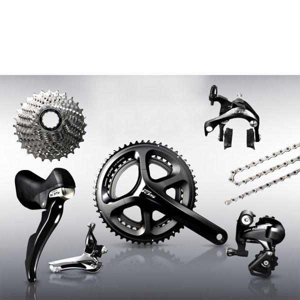 Shimano 105 5800 11 Speed Groupset - Black