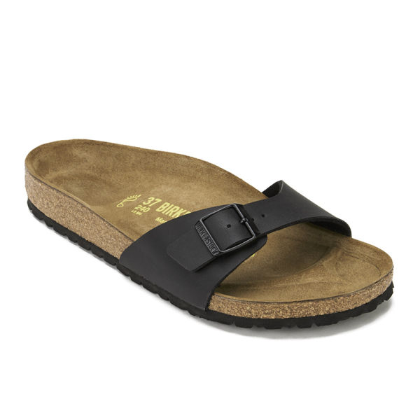 a25a3200fb3b Birkenstock Women s Madrid Slim Fit Single Strap Sandals - Black  Image 5