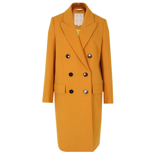 D.EFECT Women's Tallulah Spring Coat - Mustard