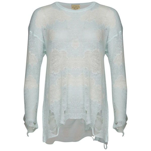 Wildfox Women's Cloudy Sky Lennon Sweater - Mall Fountain
