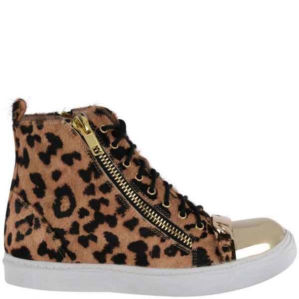 Jeffrey Campbell Women's Leopard Pony Hair High Tops - Leopard