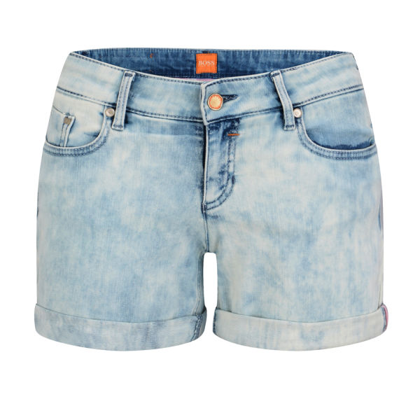 BOSS Orange Women's Lillie Denim Shorts - Blue