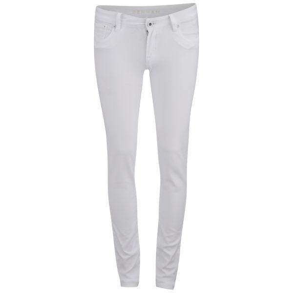 Denham Women's Mid Rise Skinny Jeans - White