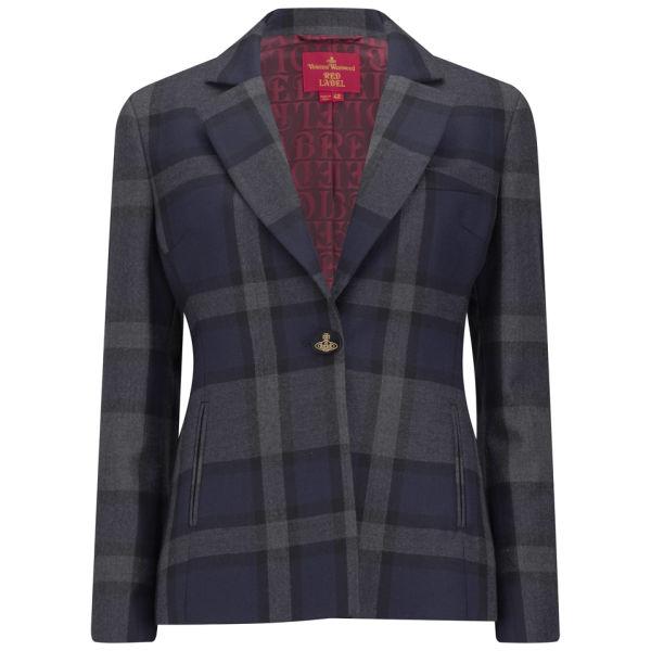 Vivienne Westwood Red Label Women's Check Wool Blazer - Navy