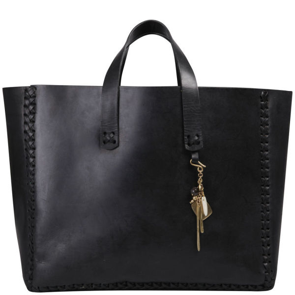 Made Women's Kips E/W Leather Tote Bag - Black