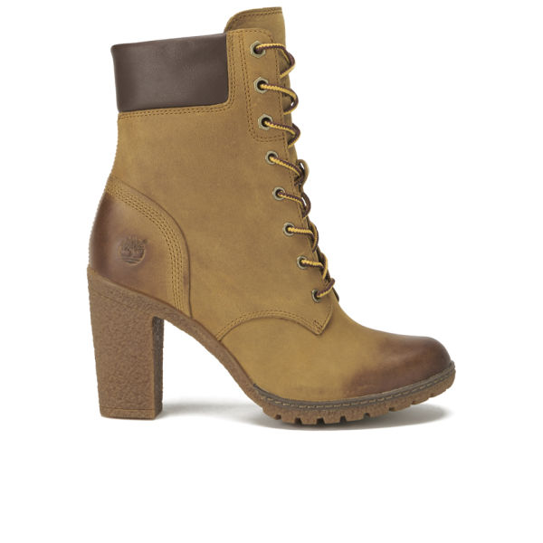 Timberland Women's Earthkeepers Glancy Leather Heeled/Lace Up Boots - Wheat