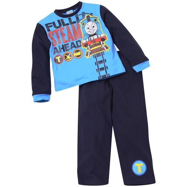 Thomas The Tank Engine Boys' Full Speed Ahead Pyjama Set - Blue/Navy
