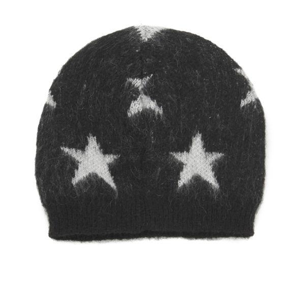 Maison Scotch Star Beanie Hat - Black