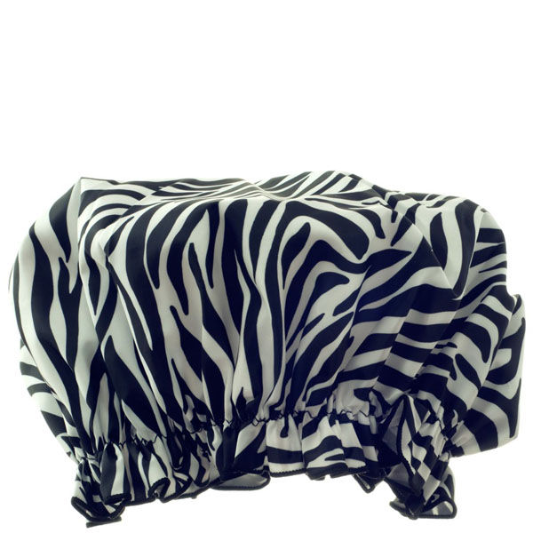 Hydrea London Eco Friendly Shower Cap Zebra Free