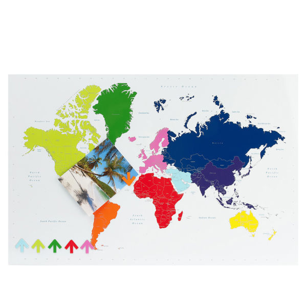 Present time multi colour magnetic world map memo board traditional present time multi colour magnetic world map memo board gumiabroncs Choice Image