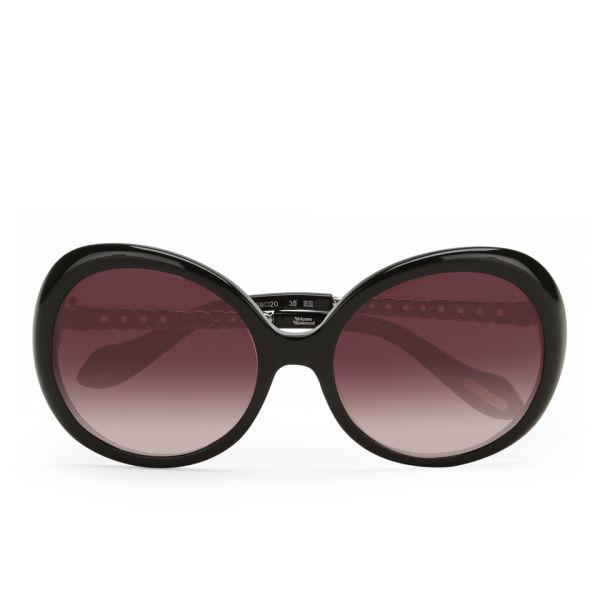 Vivienne Westwood Round Sunglasses - Black/Gunmetal