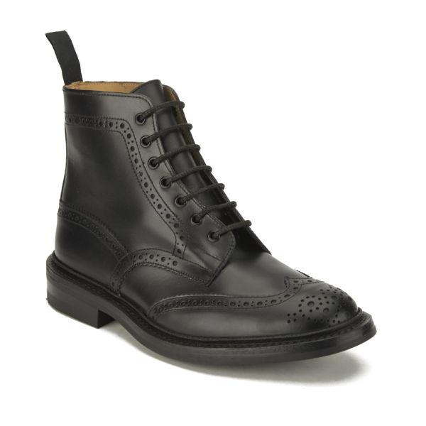 Tricker S Men S Stow Dainite Leather Brogue Boots Black