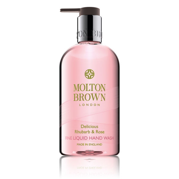 Molton Brown sabon des mains de la rhubarbe et de la rose (300ml)