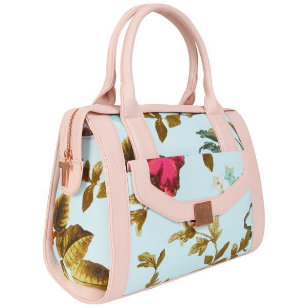 Ted Baker Womenu0026#39;s Daltonn Mid Summer Floral Bowler Bag - Powder Blue