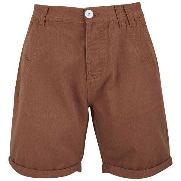 Soul Star Men's Chino Melton Shorts - Rust