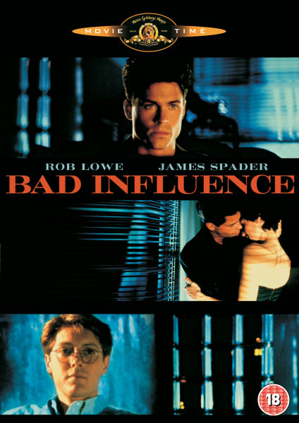 many films have a bad influence The doppelganger aspects of bad influence, and the film's many unexpected twists and the film's boldest stroke is to cast the likeable lowe as the bad guy.