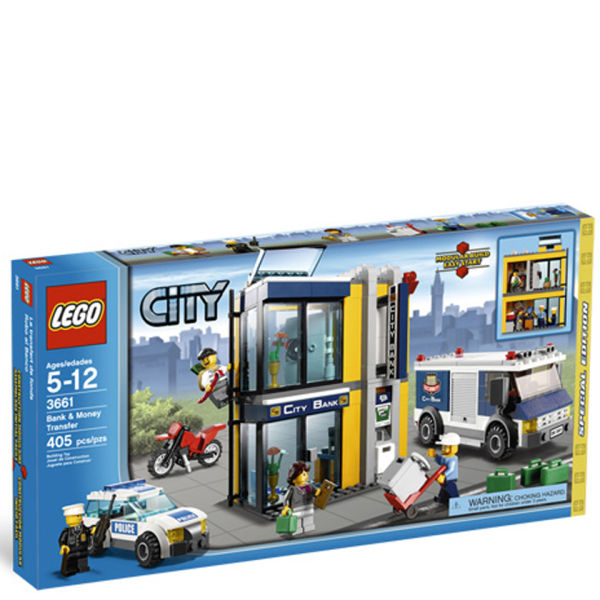 Lego City Bank And Money Transfer 3661 Iwoot