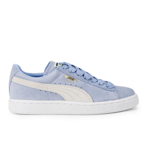 Puma Women's Suede Classics Pastel Trainers - Powder Blue/White